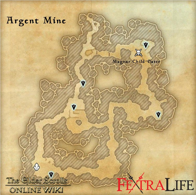 eso skyshard map with Argent Mine on Nchuleftingth together with Rivenspire moreover Clockwork City Skyshards besides Eso Auridon Skyshards Guide as well Esotu Public Dungeon The Vile Manse.