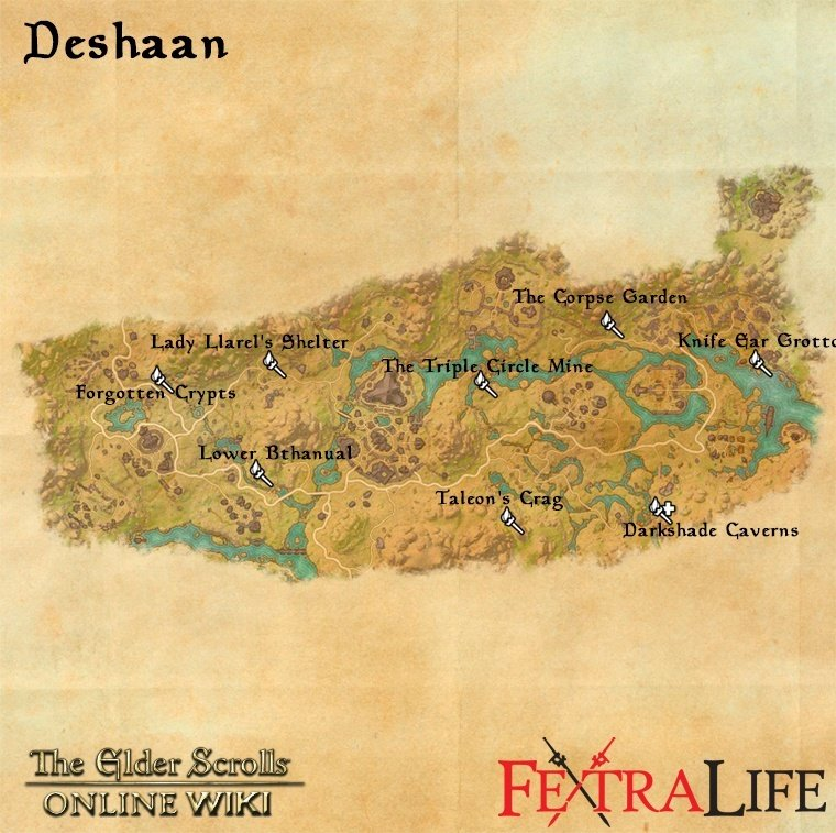 elder scrolls online treasure maps with Deshaan on Coldharbour together with ESO  Bleakrock Treasure Map II in addition ESO  Glenumbra Treasure Map II moreover Betnikh further 1049.