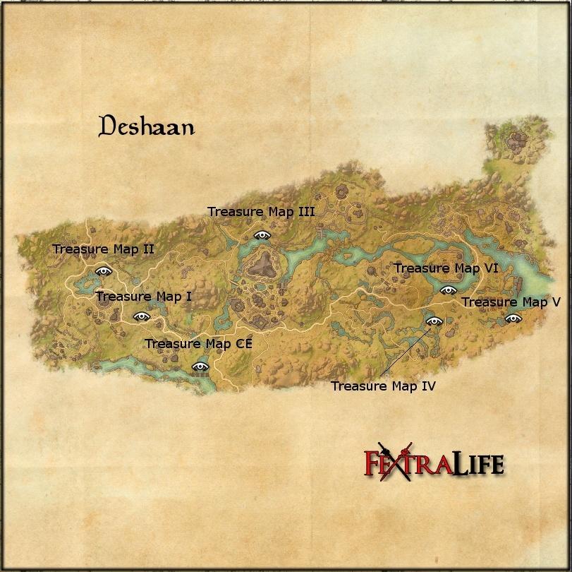 Deshaan Ce Treasure Map Deshaan CE Treasure Map | Elder Scrolls Online Wiki Deshaan Ce Treasure Map