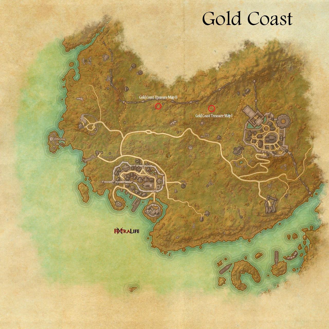 gold coast treasure maps  elder scrolls online wiki - gold coast treasure maps