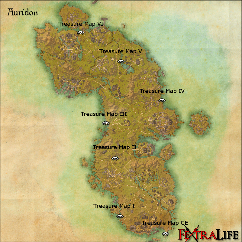 Auridon CE Treasure Map | Elder Scrolls Online Wiki