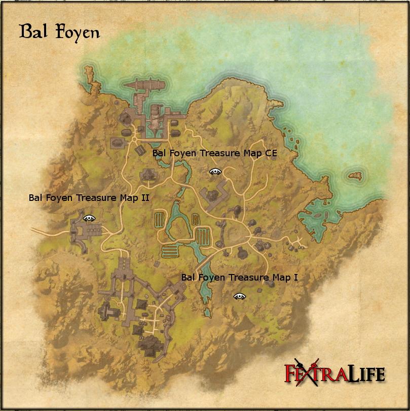 Bal Foyen Treasure Map 1 Bal Foyen Treasure Map I | Elder Scrolls Online Wiki