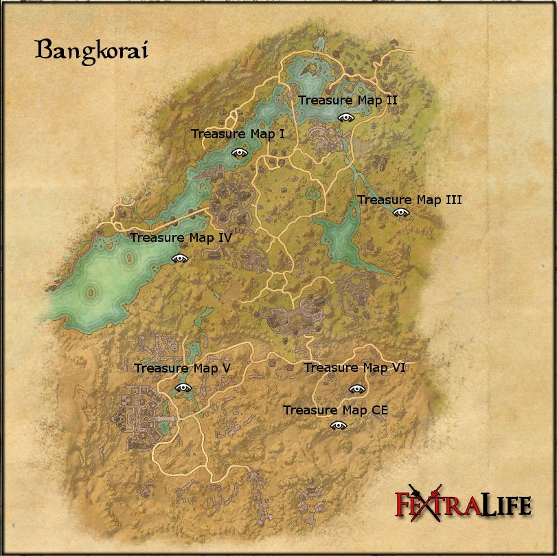 Bangkorai Ce Treasure Map Bangkorai CE Treasure Map | Elder Scrolls Online Wiki