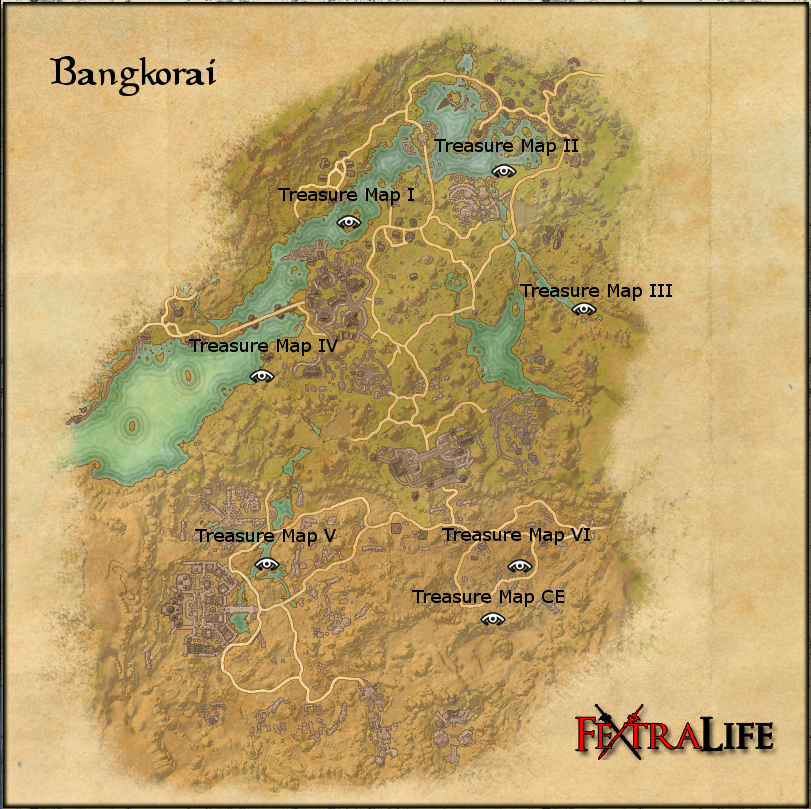 Bangkorai Ce Treasure Map Bangkorai Treasure Maps | Elder Scrolls Online Wiki
