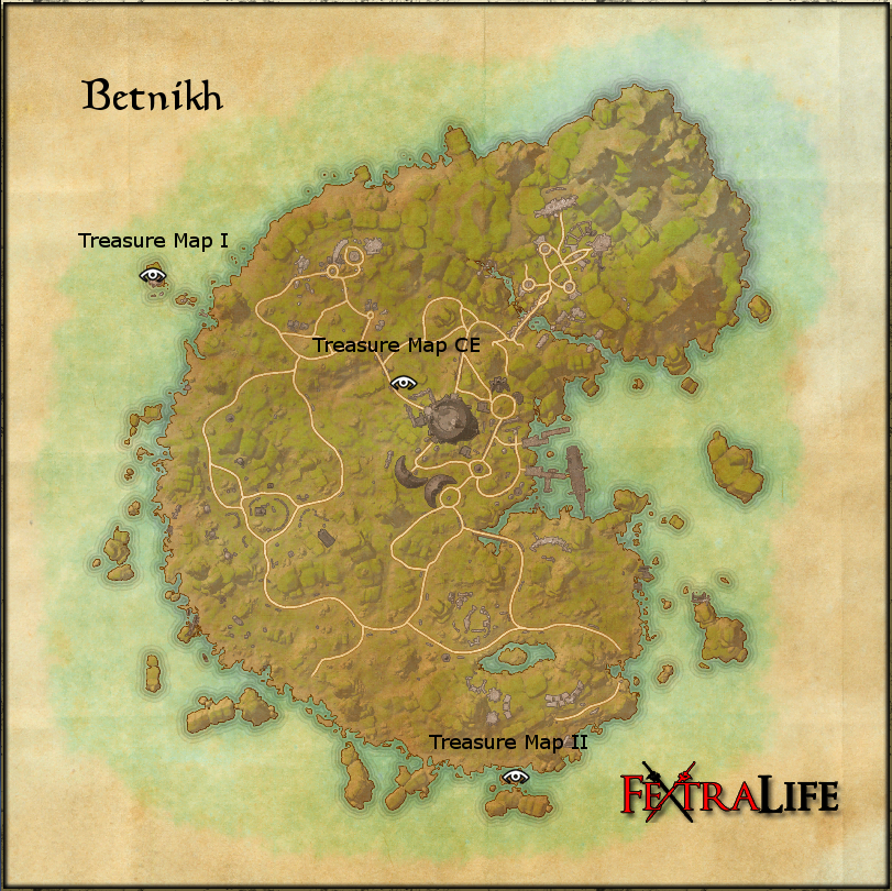Betnikh Treasure Map Betnikh Treasure Maps | Elder Scrolls Online Wiki