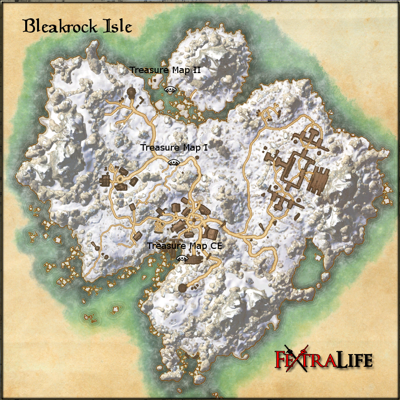 Bleakrock Treasure Map Bleakrock Isle Treasure Maps | Elder Scrolls Online Wiki