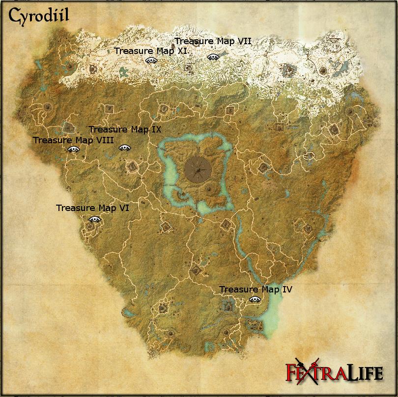 Cyrodiil Treasure Map XI | Elder Scrolls Online Wiki