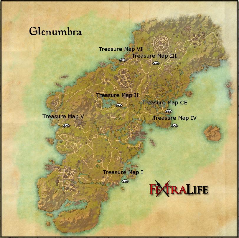 Glenum CE Treasure Map | Elder Scrolls Online Wiki on