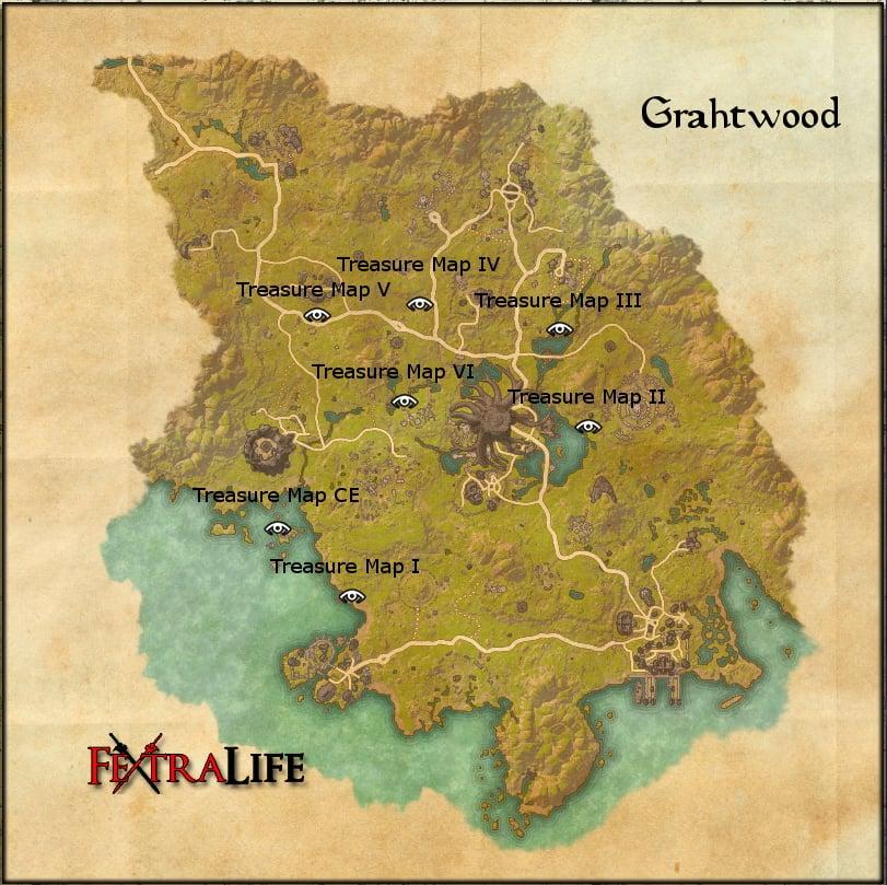 Grahtwood Ce Treasure Map Grahtwood CE Treasure Map | Elder Scrolls Online Wiki