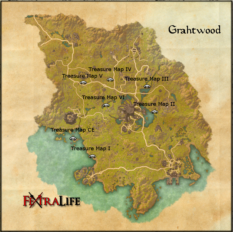 Grahtwood CE Treasure Map | Elder Scrolls Online Wiki