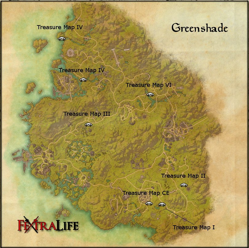 Greenshade Treasure Maps | Elder Scrolls Online Wiki