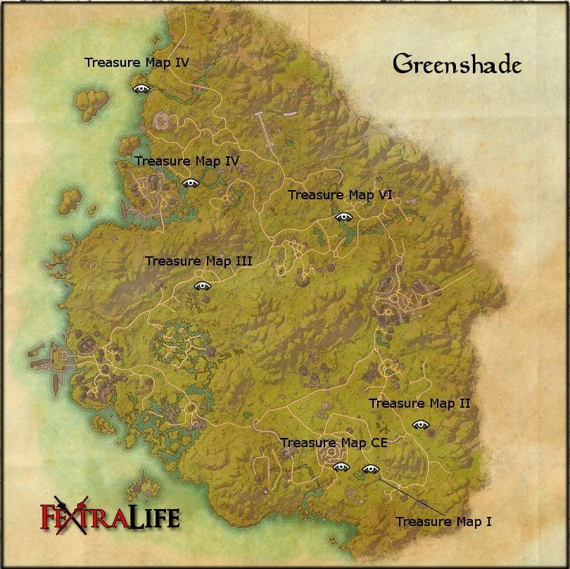 greenshade treasure maps elder scrolls online wiki