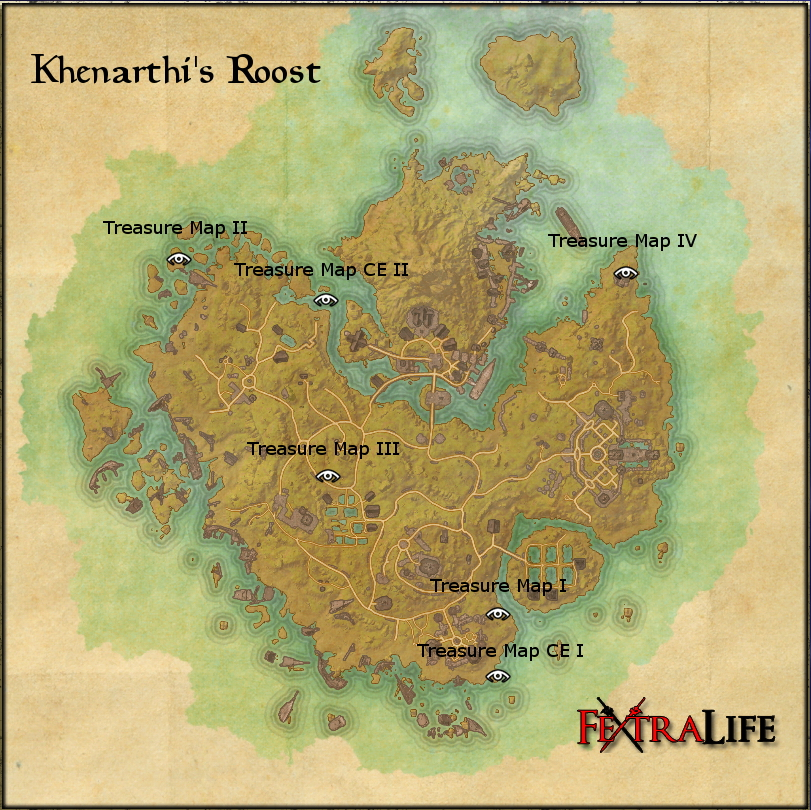 Khenarthi\\\\\\\\\\\\\\\'s Roost Treasure Map 1 Khenarthi's Roost Treasure Maps | Elder Scrolls Online Wiki