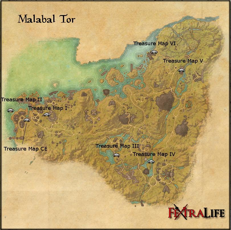 Malabal Tor Treasure Maps | Elder Scrolls Online Wiki