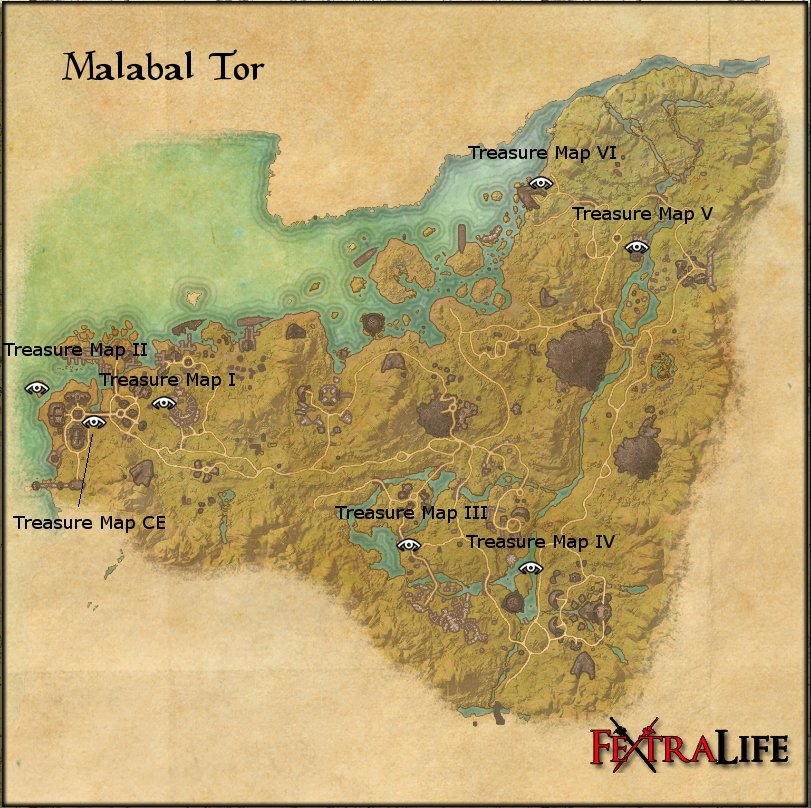 Malabal Tor Treasure Map 3 Malabal Tor Treasure Map VI | Elder Scrolls Online Wiki Malabal Tor Treasure Map 3