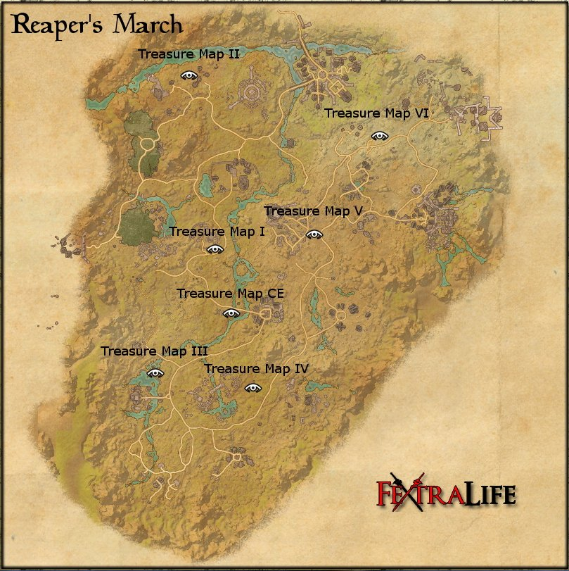 map reapers march treasure mapspng