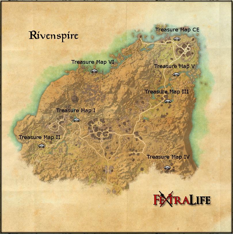 Rivenspire Treasure Maps | Elder Scrolls Online Wiki