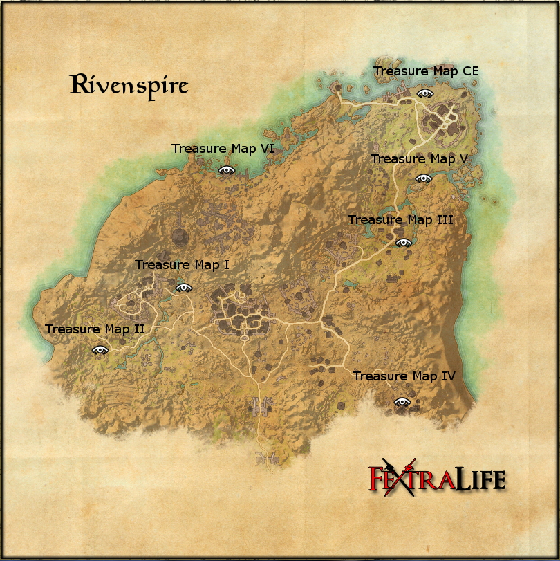 Rivenspire Treasure Map Rivenspire Treasure Map II | Elder Scrolls Online Wiki