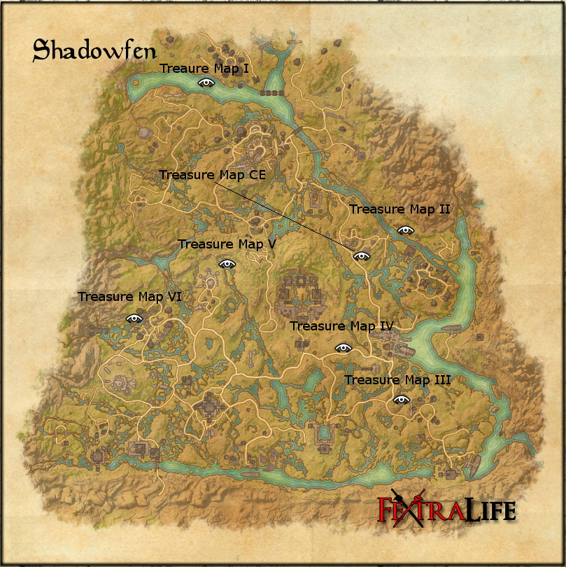 shadowfen treasure maps elder scrolls online wiki