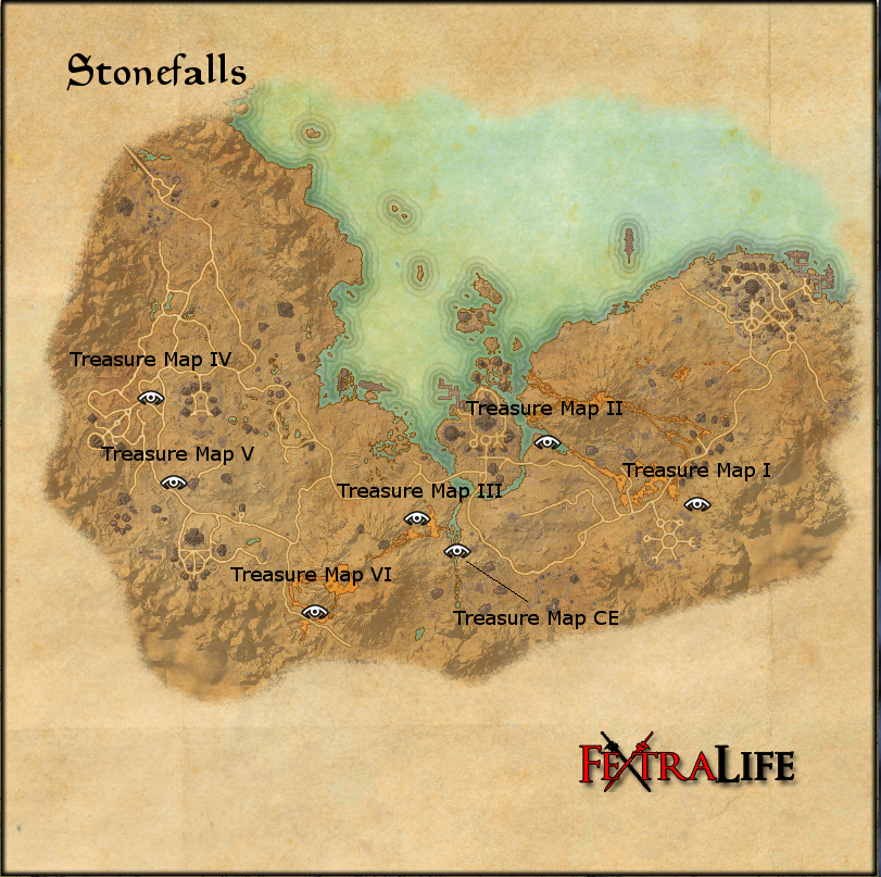 eso ce treasure maps with Stonefalls Treasure Map Iv on Rivenspire Treasure Maps moreover Eso Glenumbra Skyshards Locations Guide furthermore 450447 in addition Skyrim in addition Bleakrock Isle Treasure Maps.
