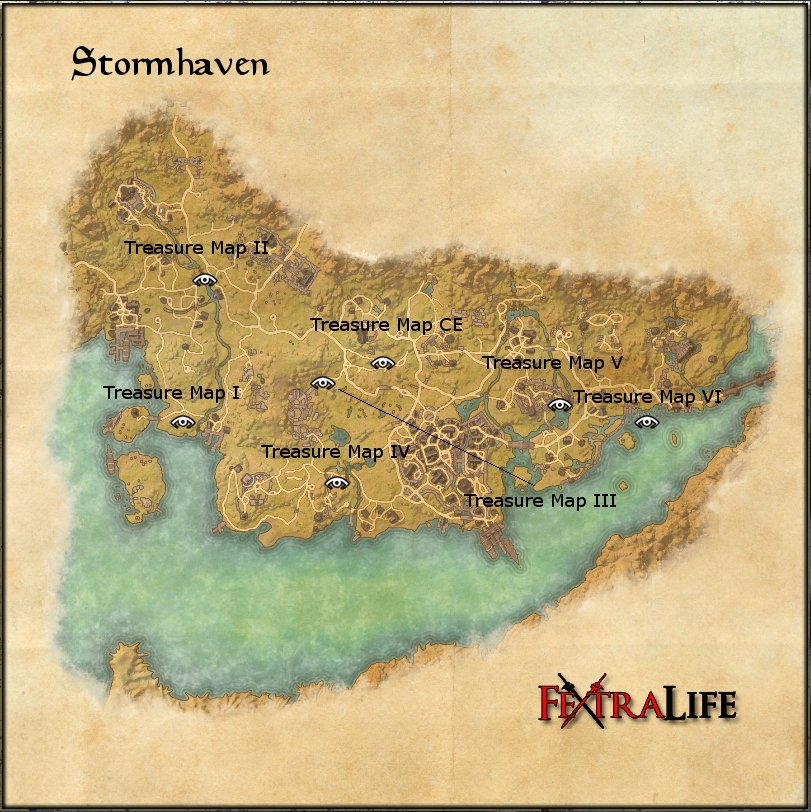 Glenumbra Treasure Map 3 stormhaven ce treasure map printable us ...