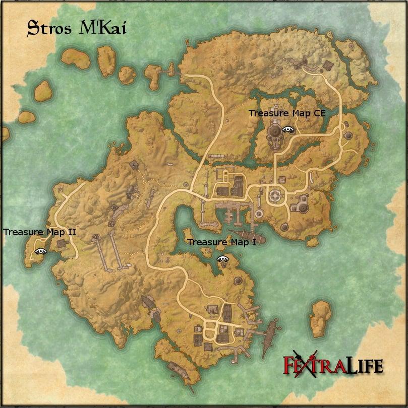 Stros M'Kai Treasure Maps | Elder Scrolls Online Wiki