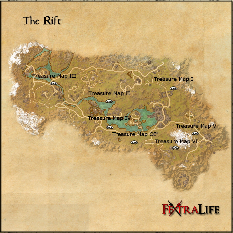 The Rift Ce Treasure Map The Rift CE Treasure Map | Elder Scrolls Online Wiki