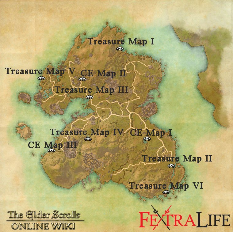 Summerset Treasure Maps | Elder Scrolls Online Wiki