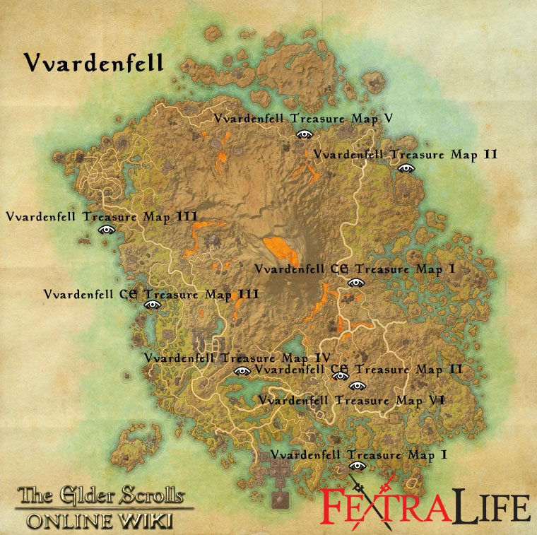 eso ce treasure maps with Vvardenfell on Rivenspire Treasure Maps moreover Eso Glenumbra Skyshards Locations Guide furthermore 450447 in addition Skyrim in addition Bleakrock Isle Treasure Maps.