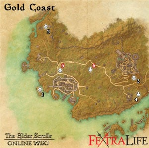 Gold Coast Skyshards Map eso