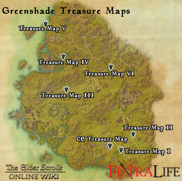 Greenshade Ce Treasure Map Greenshade CE Treasure Map | Elder Scrolls Online Wiki