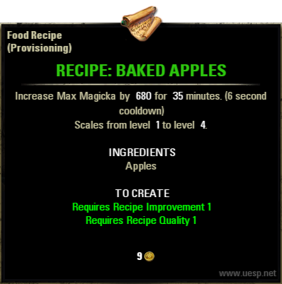 Baked apples elder scrolls online wiki recipe forumfinder Choice Image