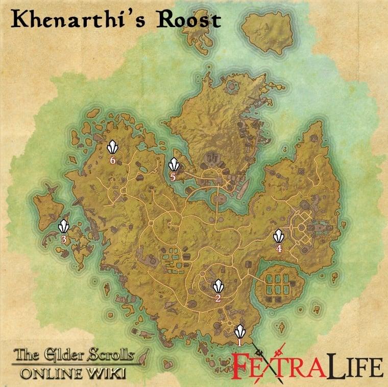 Khenarthi's Roost Skyshards | Elder Scrolls Online Wiki on