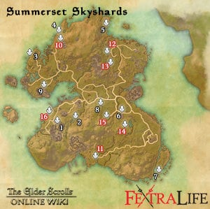 SUMMERSET MAPS: Skyshards, Relics, Boss Dungeons, Geysers, etc ...