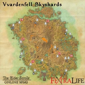 Vvardenfell Skyshards Map World Bosses Dungeons Locations Guide