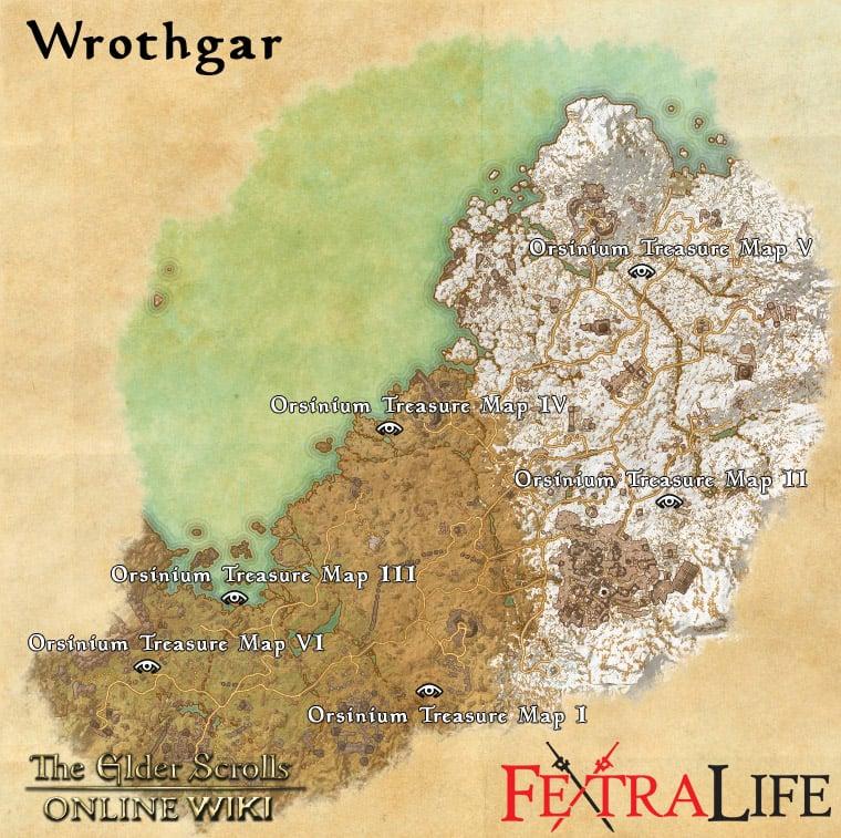 Wrothgar Treasure Maps Elder Scrolls Online Wiki